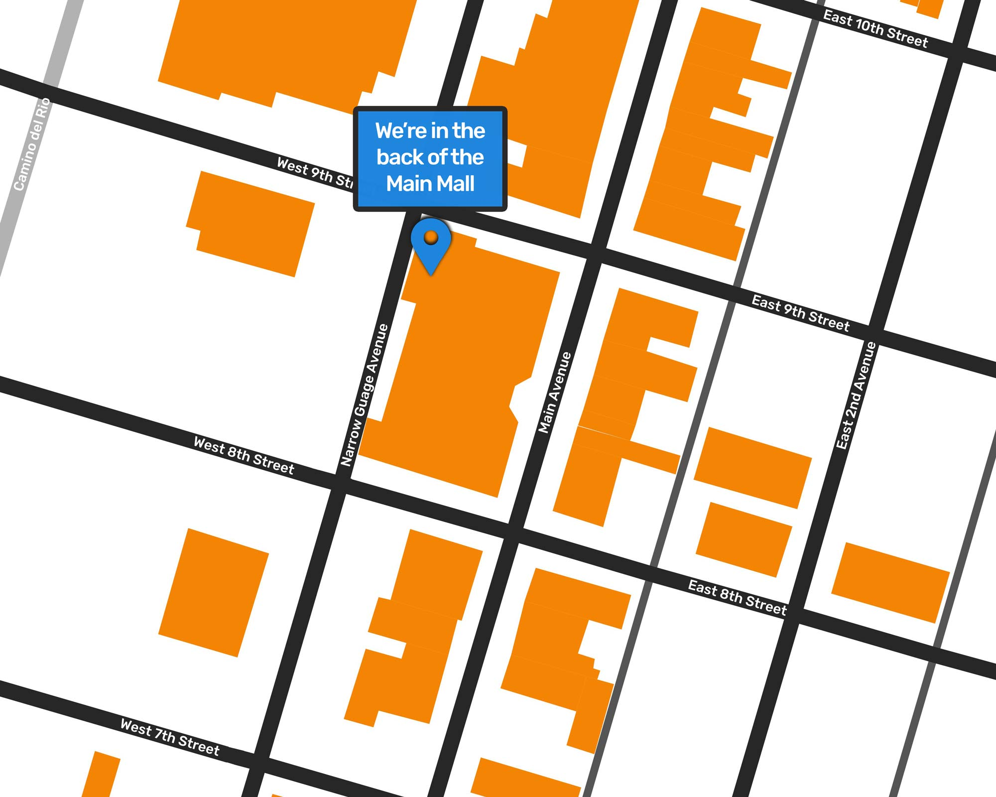 Map of Where RGPs is: 835 Main Ave #107B